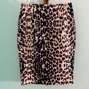 Leopard Print Pencil Skirt Size 6